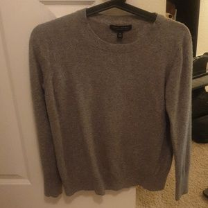 Grey sweater with Italian mering blend